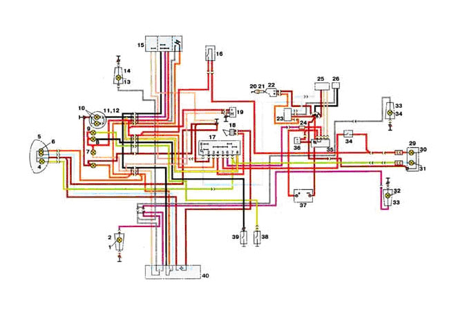 Монтажная электрическая схема ИЖ 7.107 (Планета-5) (электронная система...